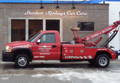 Harbor Springs Car Care Tow Truck